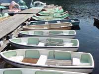 木崎湖モダンボートローボート