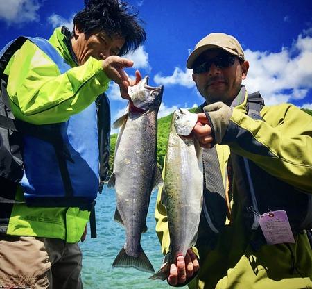 木崎湖キザキマス釣り