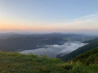 木崎湖モダンボート木崎湖全景