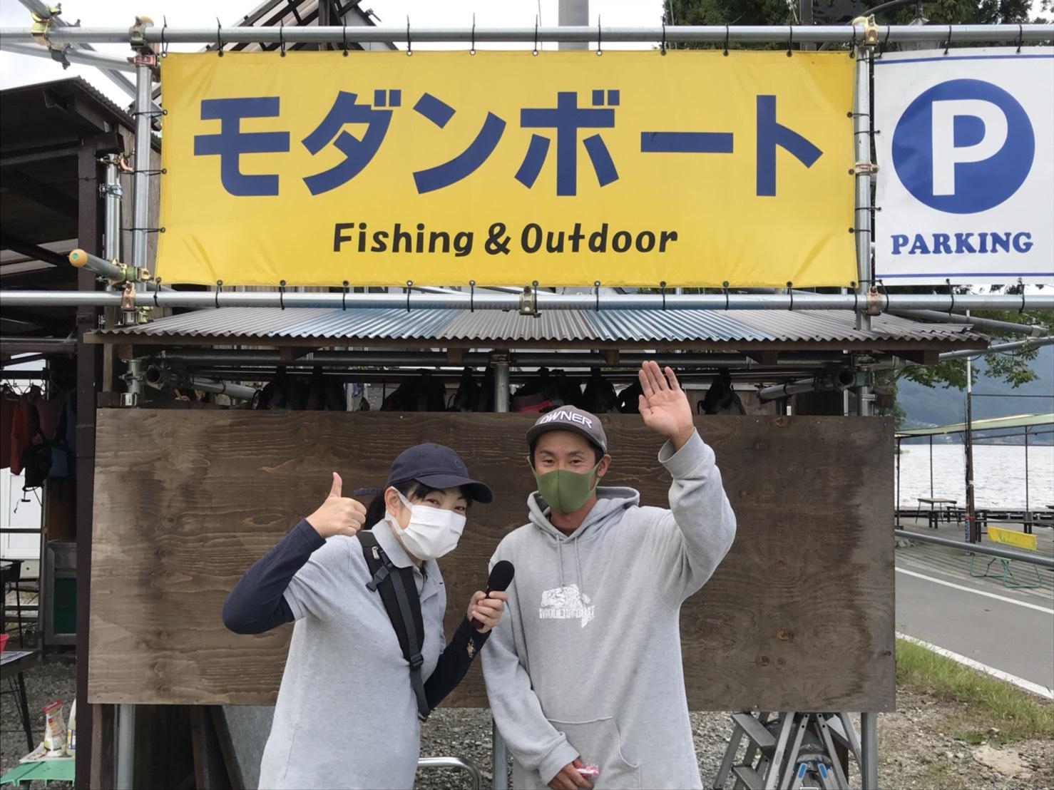 木崎湖モダンボートメディア取材・撮影