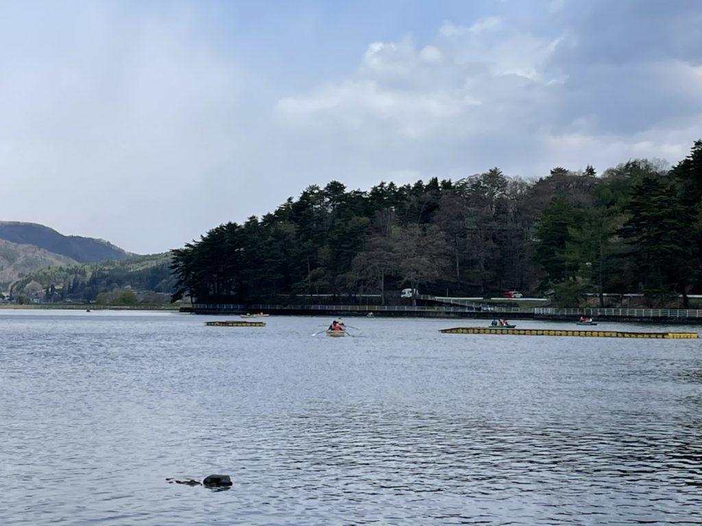 ゴールデンウィークの木崎湖ワカサギ釣り