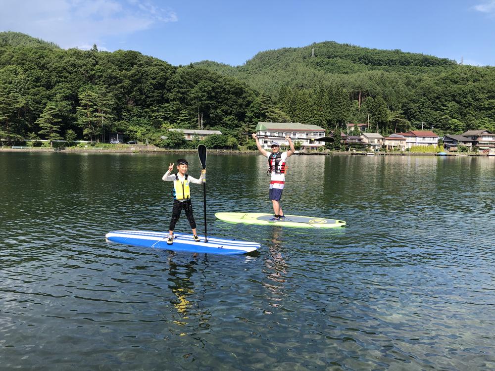 木崎湖 SUP(サップ)初体験のお客様お越しくださいました! 7/22