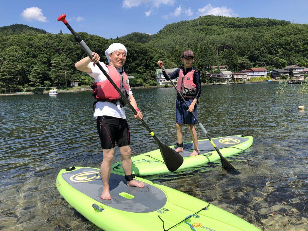 木崎湖のSUP(サップ)をお楽しみいただきました!