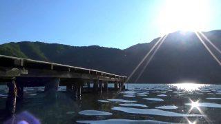木崎湖の風景