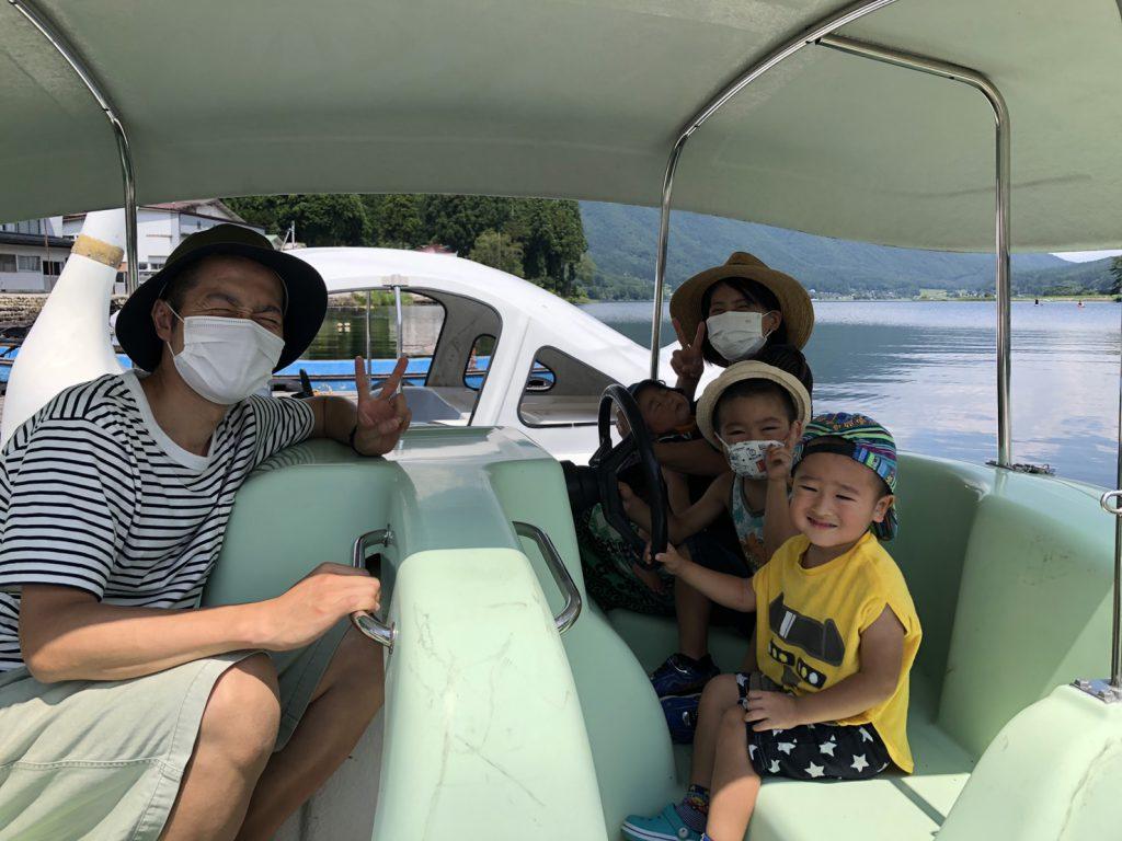 木崎湖モダンボートのペダルボートをお楽しみいただきました!