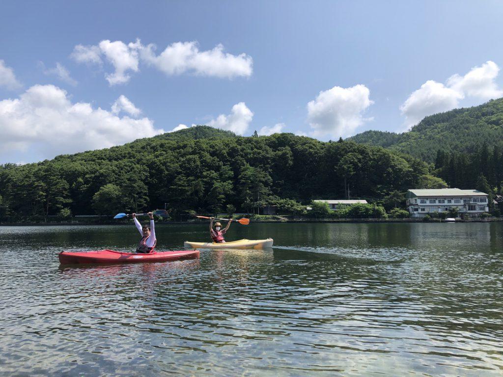 木崎湖のカヤックをお楽しみいただきました!