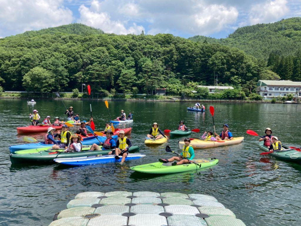 団体様での木崎湖のSUP(サップ)&カヤックをお楽しみいただきました!