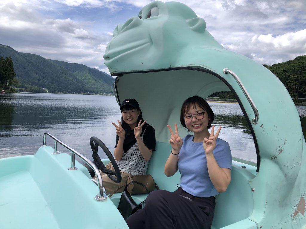 木崎湖モダンボートのペダルボート「ゴリラ」ご利用いただきました!