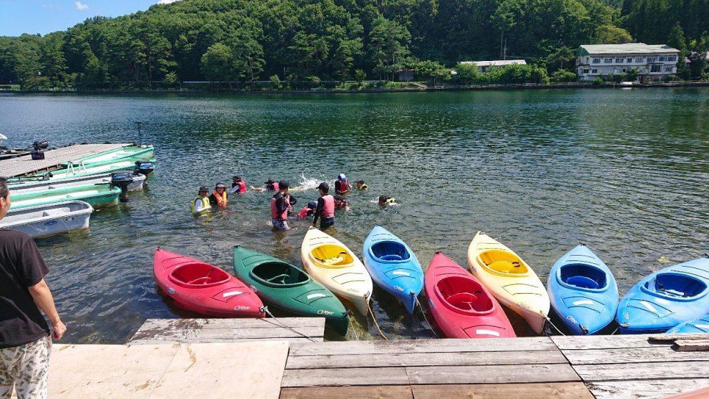 団体様で木崎湖のカヤックご利用いただきました!