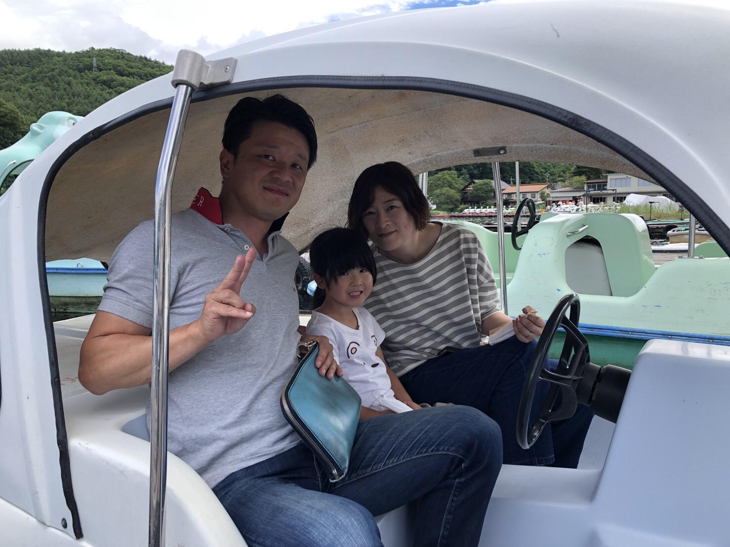 ペダルボートをお楽しみいただきました!