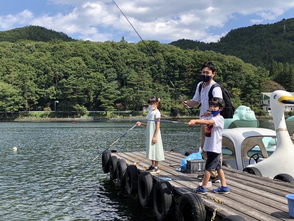 ペダルボート&エサ釣りをお楽しみいただきました!