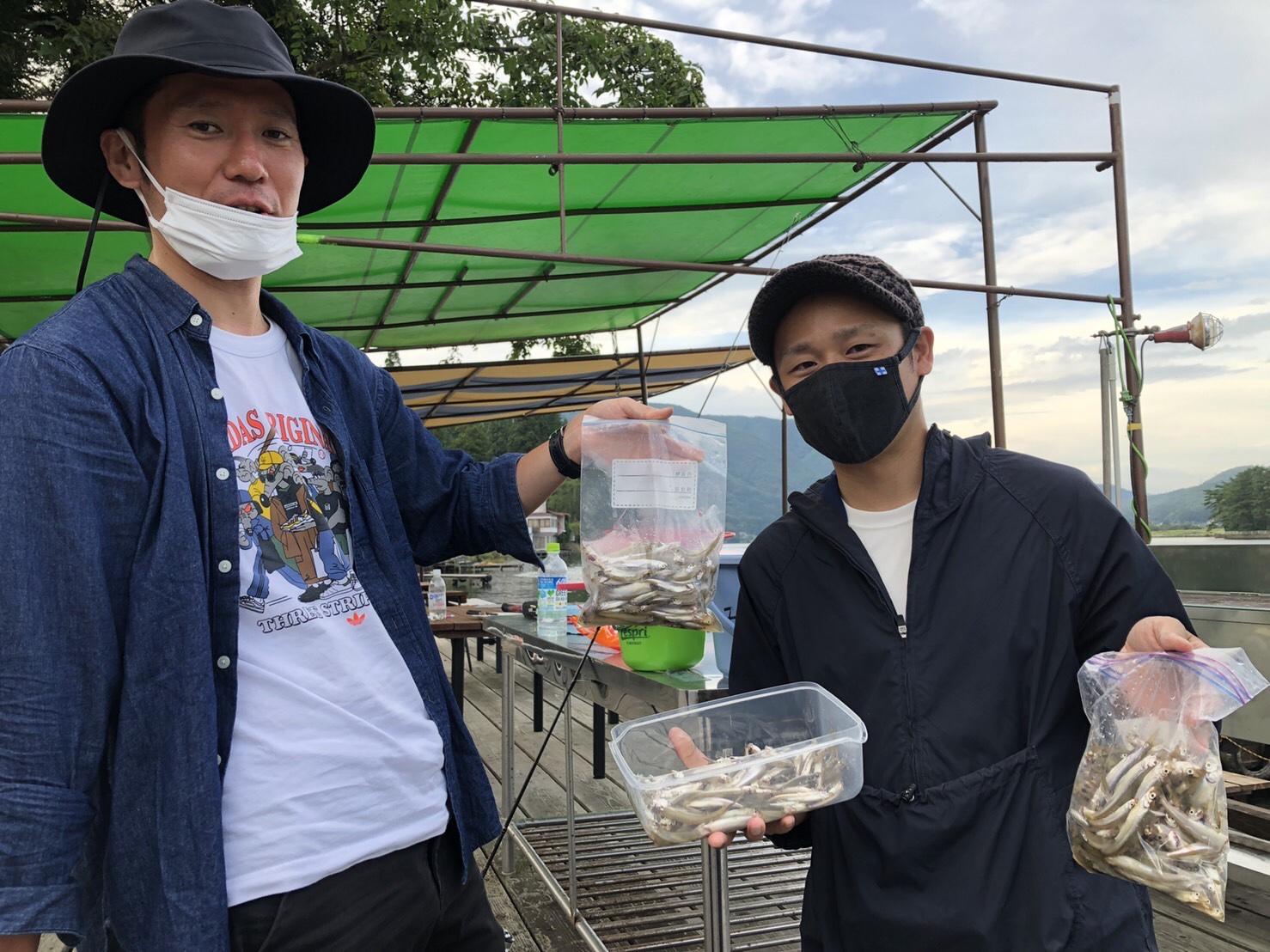 木崎湖ワカサギ釣果情報 9/11