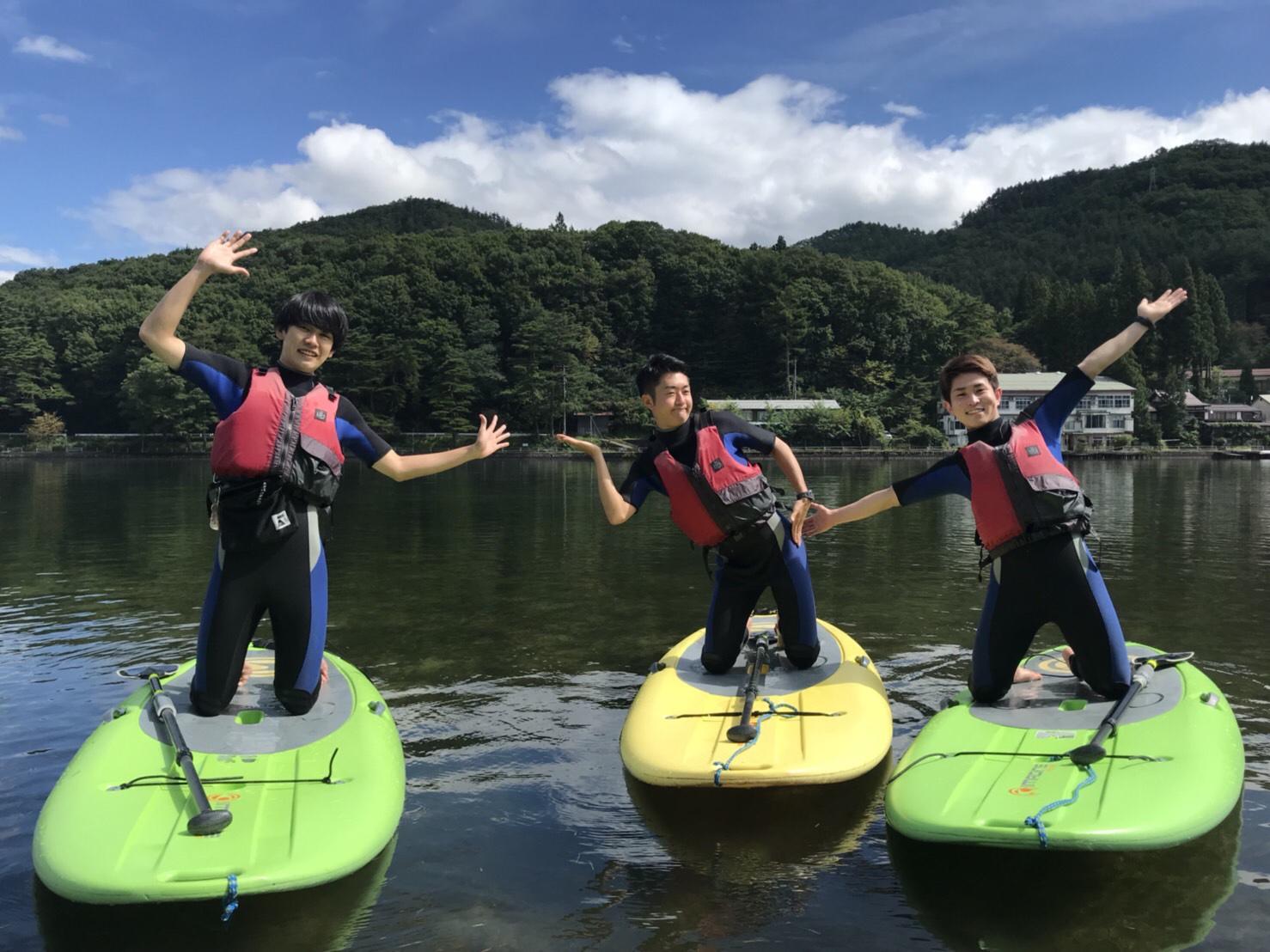 木崎湖ワカサギ釣り&サップ二本立て遊びにお越しいただきました!