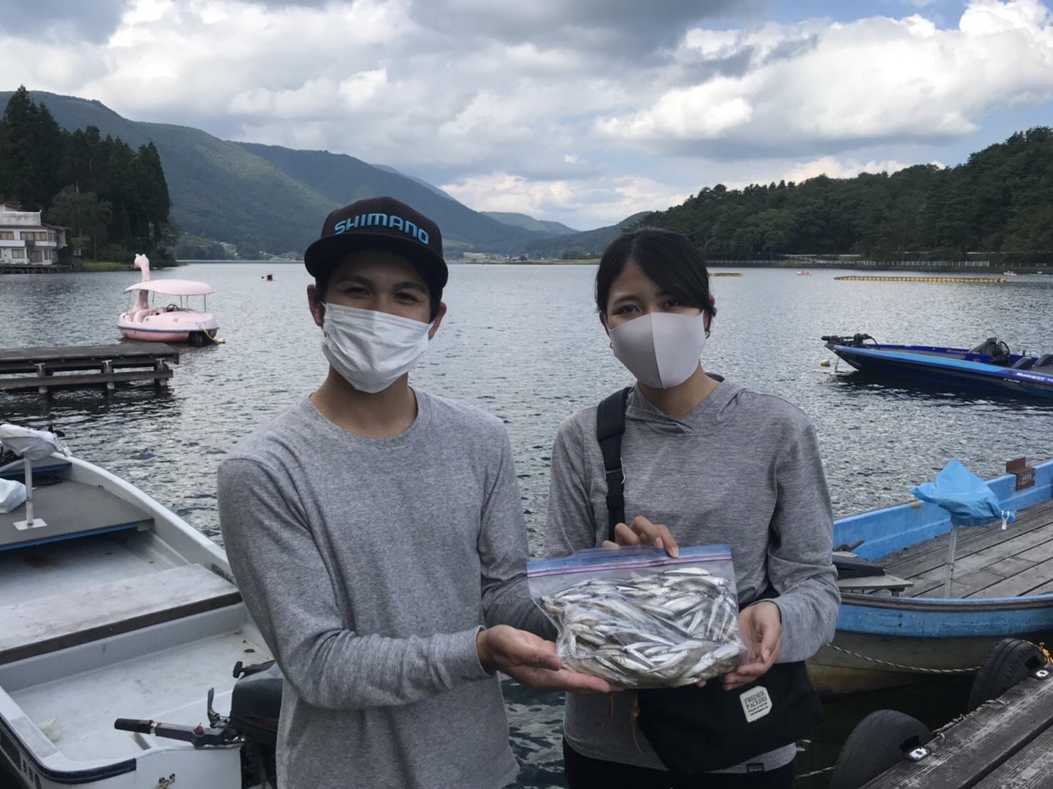 木崎湖ワカサギ釣果情報 9/25