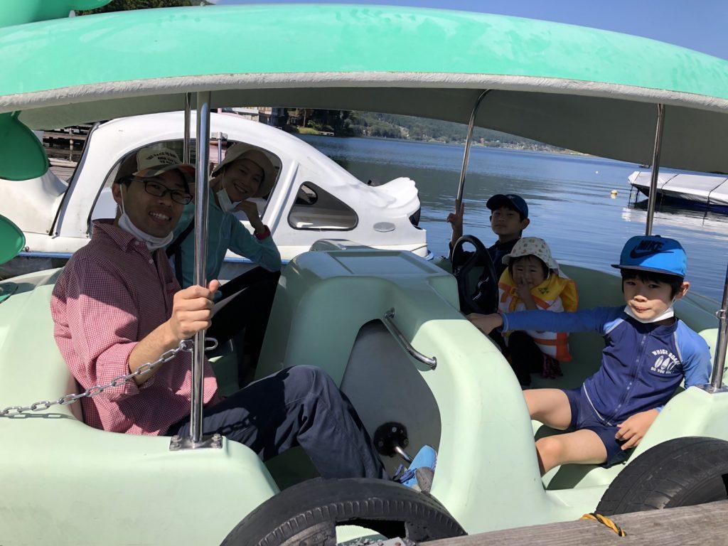 木崎湖のペダルボートをお楽しみいただきました!
