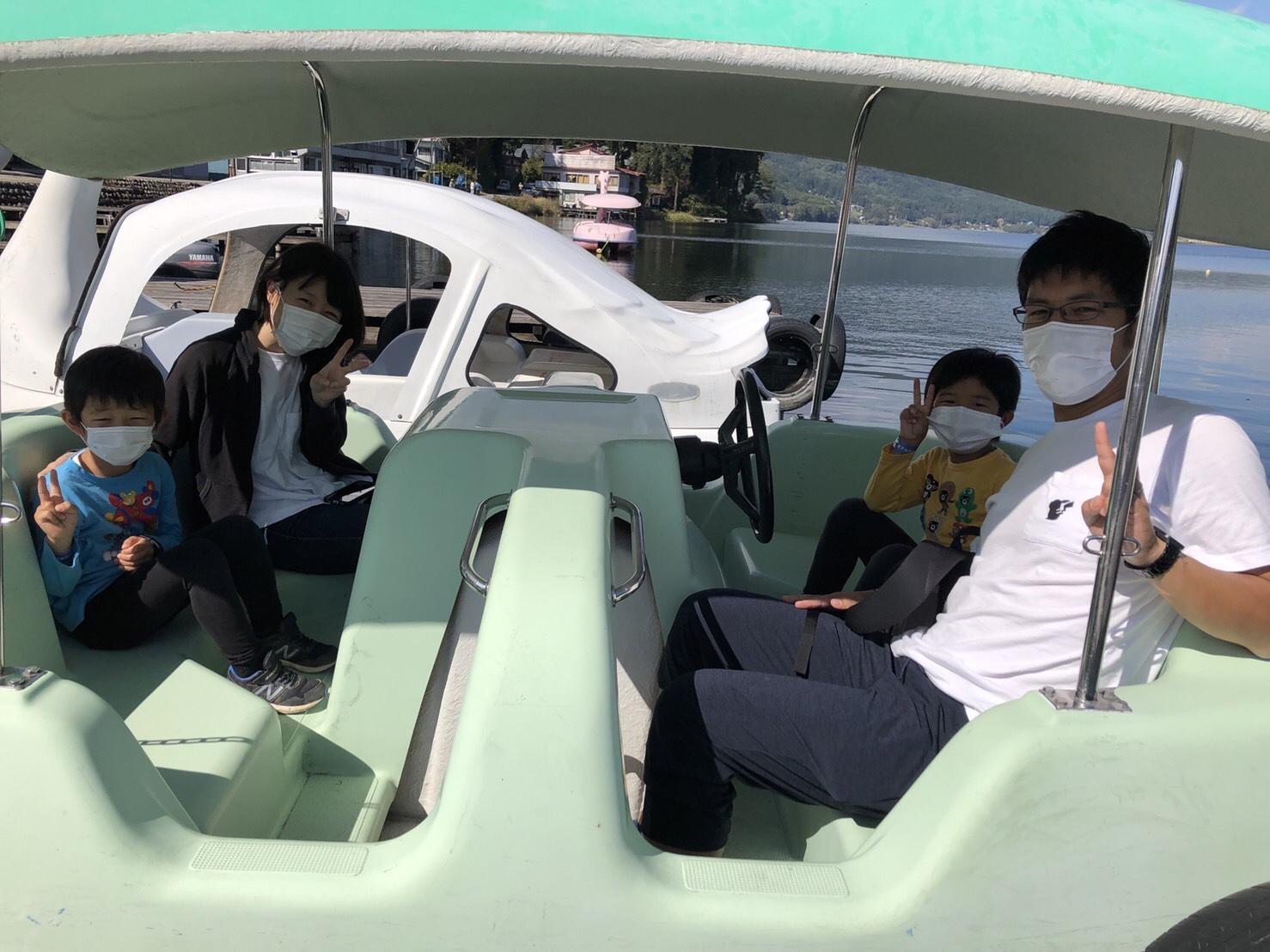 大町市北アルプス国際芸術祭…からの木崎湖のペダルボートをお楽しみいただきました!